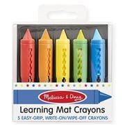 Melissa & Doug - Learning Mat Crayon Set 5pce
