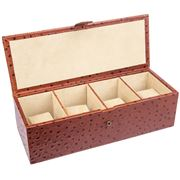 Redd Leather - Large Ostrich Tan Leather Watch Box