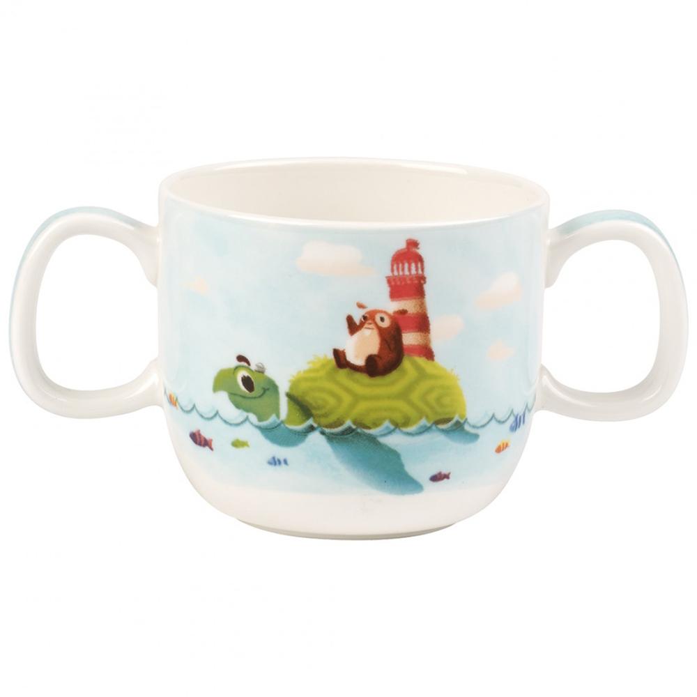 V b chewy around the world children 39 s double handle mug for Mug handle ideas