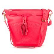 GiGi New York - Jenn Poppy Embossed Leather Bucket Bag
