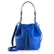 GiGi New York - Jenn Cobalt Bucket Bag Leather