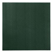 Graphic Image - Square Placemat Emerald Embossed Python