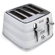 DeLonghi - Avvolta Four Slice Toaster CTA4003 White