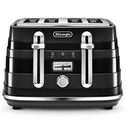 DeLonghi - Avvolta Black Four-Slice Toaster
