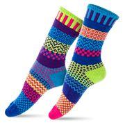 Solmate Socks - Bluebell Adult Crew Socks Small