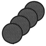 Envision Home - Thirsty Coasters Set 4pce Black