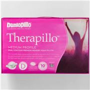 Dunlopillo - Therapillo Medium Dual Contour Foam Pillow