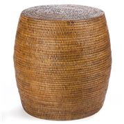 French Country - Coco Drum Stool 40cm