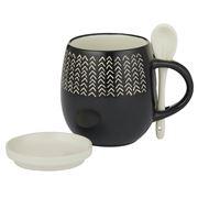 Davis & Waddell - Taste Amhara Black Mug Set 3pce