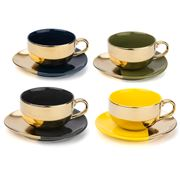 Yedi - Desert Gold Teacup & Saucer Set 4pce