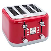 Kenwood - kMix Four Slice Toaster TFX750 Spicy Red