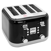 Kenwood - kMix Four Slice Toaster TFX750 Rich Black