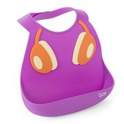 que - DJ Headphones Purple/Orange Silicone Bib