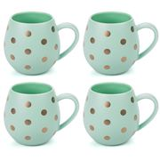 Robert Gordon - Hug Me Mint & Gold Spot Mug Set 4pce