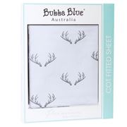 Bubba Blue - Deer Fitted Cot Sheet