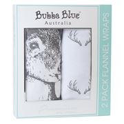 Bubba Blue - Deer Flannel Wrap Set 2pce