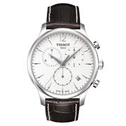 Tissot - Tradition White Chronograph w/Brown Leather Strap