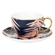 Cristina Re - Paradise Palms Blue Lagoon Teacup & Saucer