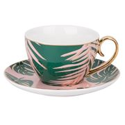 Cristina Re - Paradise Palms Emerald Island Teacup & Saucer