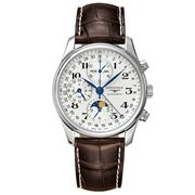 Longines - Master Coll. Moon Phase Brown Strap Chronograph