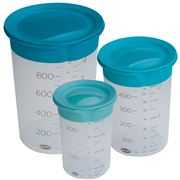 Chef'N - Sleekstor Measuring Beaker with Lid Set 3pce