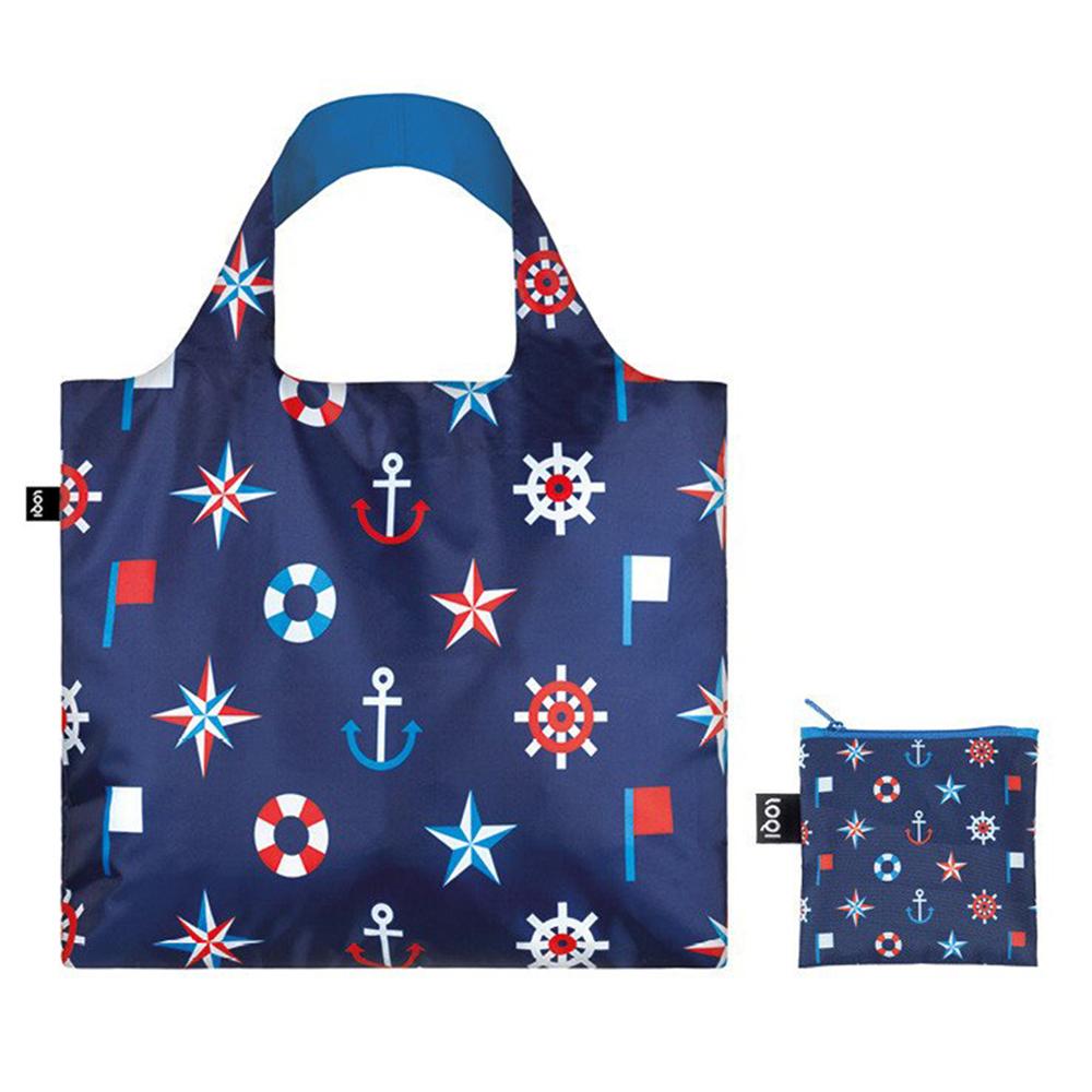Loqi Nautical Collection Classic Reusable Shopping Bag