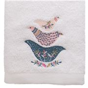 Pilbeam - Embroidered Floral Birds Hand Towel