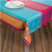 French Linen - Caprice Jacq Turq Treated T/Cloth 160x300cm