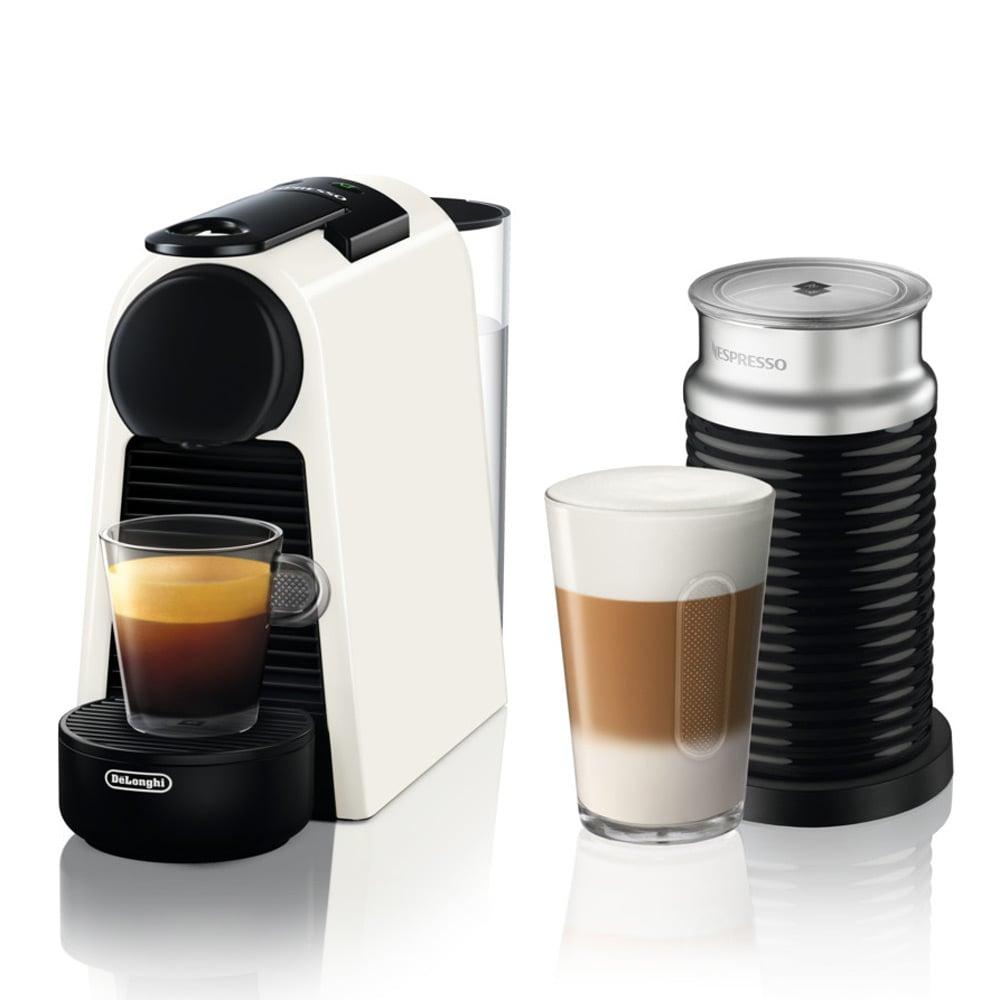 delonghi nespresso essenza mini whi coffee mach w frother peter 39 s of kensington. Black Bedroom Furniture Sets. Home Design Ideas