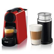 DeLonghi - Nespresso Essenza Mini Coffee Mach. w/Frother Red