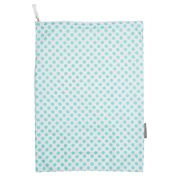 AT - Laundry Bag White with Aqua Polka Dot