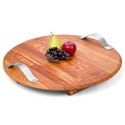 Winestains - Circular Cheese Platter with Handles