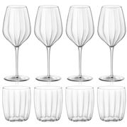 Bormioli Rocco - Incontri Tumbler & Wine Goblet Set 8pce