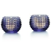 Baccarat - Eye Votive Candle Holder Set Blue 2pce