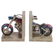 Bookend - Blue Motorcycle