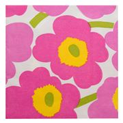 Marimekko - Unikko Lunch Napkin Light Pink Set 20pce