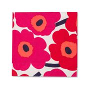 Marimekko - Unikko Red Cocktail Napkin 20pce