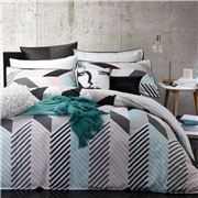 Logan & Mason - Rio Mint Quilt Cover Set King