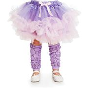 Little Adventures - Leg Warmers Bow Lilac/Pink