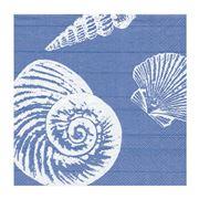 Caspari - Shells Lunch Napkins Ocean Blue 20pce