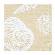 Caspari - Shells Lunch Napkins Sand 20pce