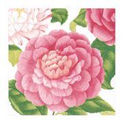 Caspari - Chatsworth Camellias Lunch Napkins 20pce
