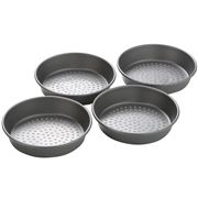 Chicago Metallic - Specialty Deep Dish Pizza Pan Set 4pce