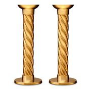 L'objet - Carrousel Candlestick Set Gold Large 2pce