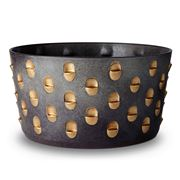L'objet - Coba Bowl Aged Bronze & Gold Large