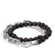 John Hardy - Men's Chain Silver Double Wrap Bracelet M