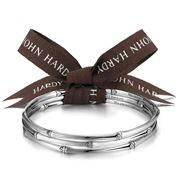 John Hardy - Women's Bamboo Silver Slim Bangles Set 3pce Med
