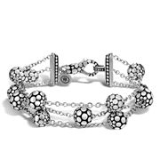 John Hardy - Women's Dot Silver 3 Row Multi-Station Bracelet