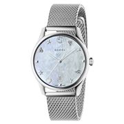 Gucci - G-Timeless MOP Dial S/Steel Mesh Strap Watch 36mm