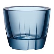Kosta Boda - Bruk Water Blue Votive Candle Holder